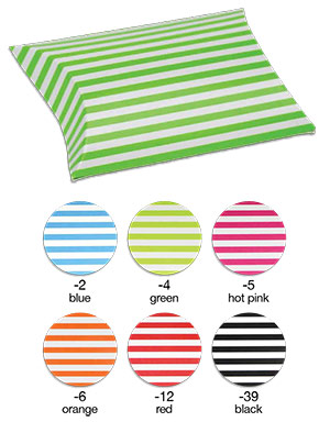 Striped Paper Puff Pouch