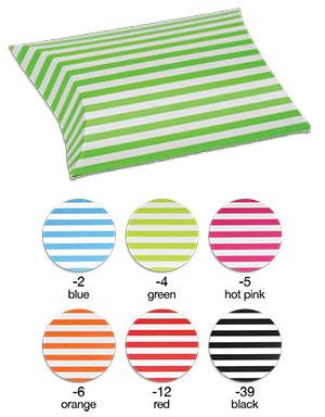 Striped Paper Puff Pouch