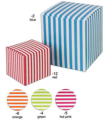 Color Striped 1 Piece Paper Boxes