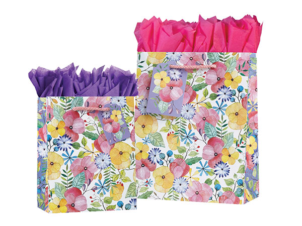 Watercolor Petal Gift Totes Rope Handles Collection