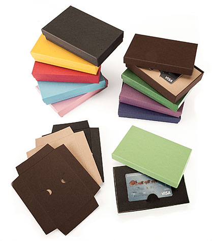 Colorful Gift Boxes With Die Cut Gift Card Inserts