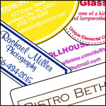 Oversized 1 Color Ink Printed Labels