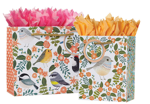 Birdie Gift Totes Rope Handles Collection