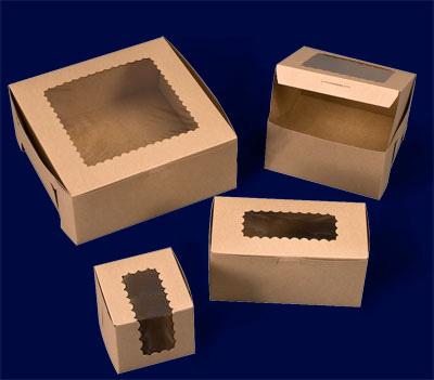 Ohio Valley Kraft Windowed Cupcake Boxes