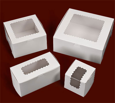 Ohio Valley White Windowed Cupcake Boxes