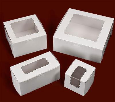 Ohio Valley White Windowed Cupcake Boxes