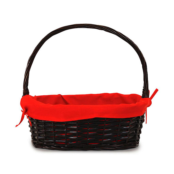 2543 Oval Brown Basket w/Red Liner