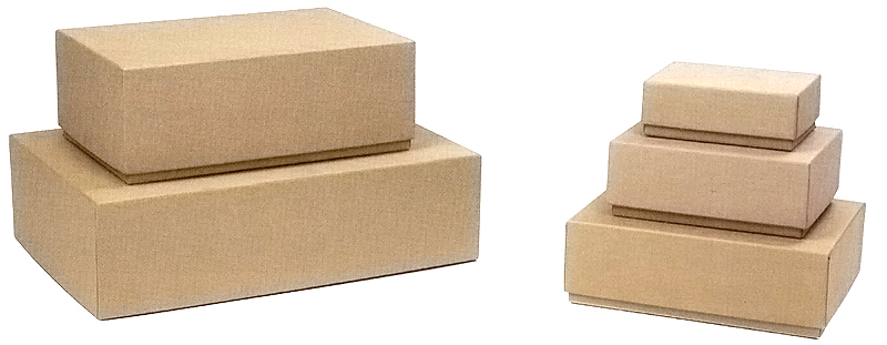 Plain Kraft Rigid Gift Boxes