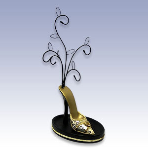 377-21775G - GOLD DISCO SHOE ON STAND