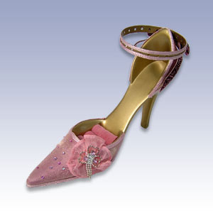 377-21982P - PINK SHOE RING/EARR DISPL