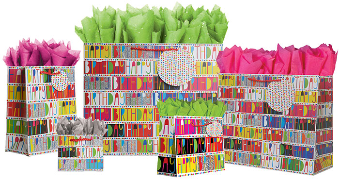GlitterBration Gift Totes Rope Handles Collection