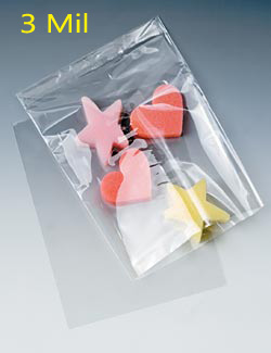 3 mil. Layflat Polyethylene Bags