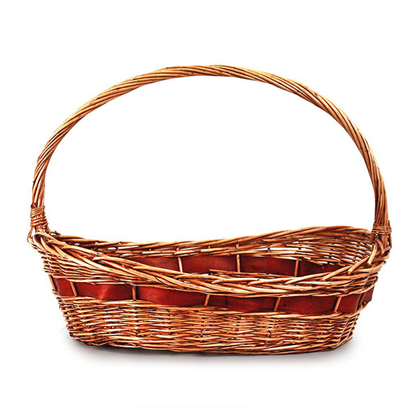 5106 Brown w/Red Accent Oval Basket