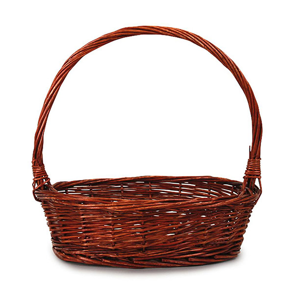 516B Oval Lacquered Basket