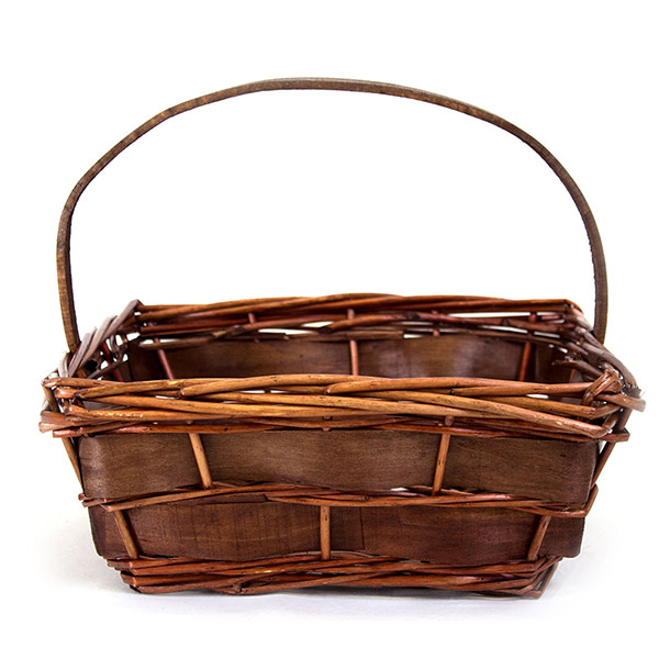 5180 Square Dark Brown Basket