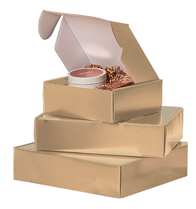 Gold Gloss Mailers Corrugated Mailer Boxes