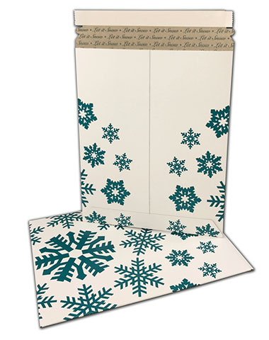 Snowflake White Kraft Cardboard Mailers