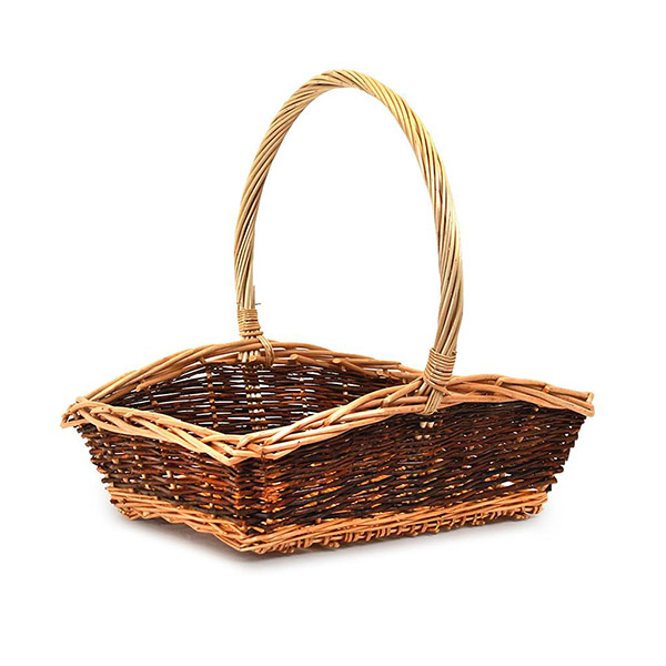 618B Rectangle Two Tone Basket