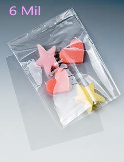 6 mil. Layflat Polyethylene Bags