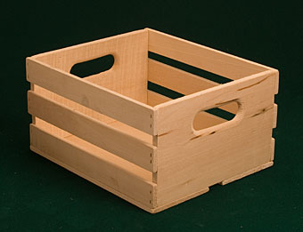 Peck Crate with Hand Holds