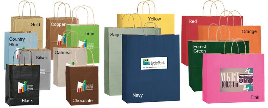 Short Run 4 Color Imprint Matte Color Bags