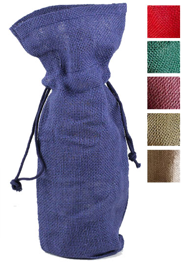 Drawstring Jute Wine Bags
