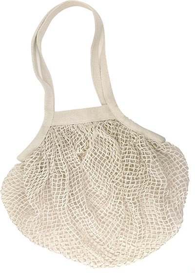 Natural Cotton Netted Shopper