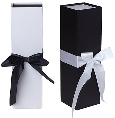 Rigid Ribbon Tie Wine Box