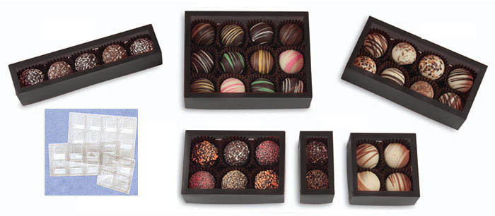 Window Black Frosted Candy Boxes