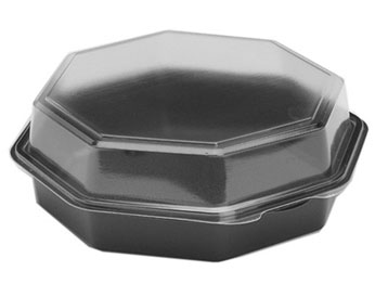 9 Inch Octagon Leak-Guard Plastic Deep Box