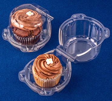 Premium Crystal CupCase Single Cupcake Container