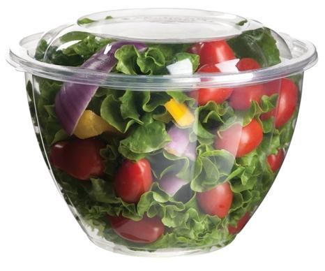 Biodegradable 48 oz. Salad Bowl w/ Lid