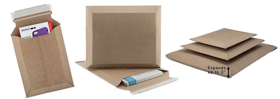 Heavy Duty Expandable Kraft Cardboard Mailers