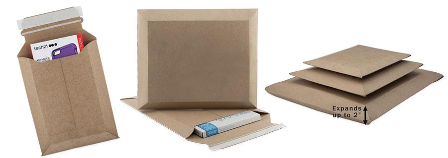 Heavy Duty Expandable Kraft Cardboard Mailers Us Box Corp