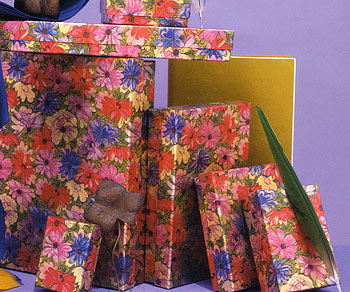 Floral Print 2 Piece Set-Up Fiber Filled Jewelry Box