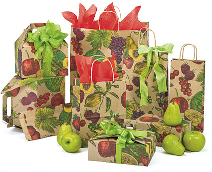 Fruit Bowl Coordinated Paper Bags and Boxes