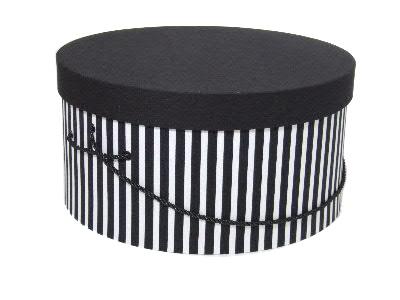 Black White Stripe Hat Boxes