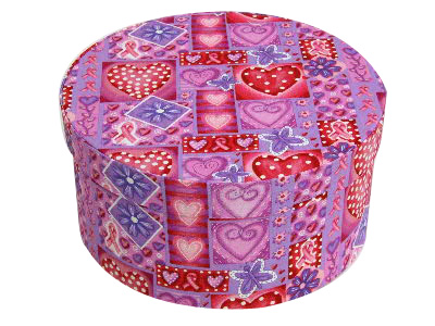 Breast Cancer Awareness Round Fabric Boxes