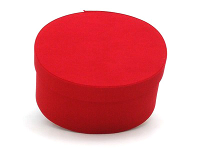 Red Oval Fabric Boxes