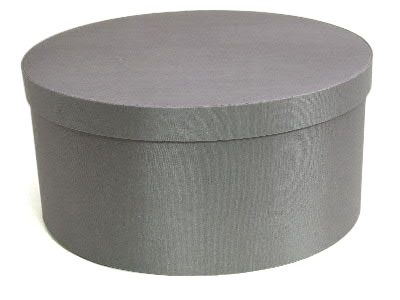Steel Gray Oval Fabric Boxes