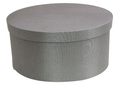 Steel Gray Round Fabric Boxes