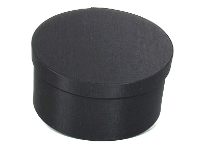 Black Oval Fabric Boxes