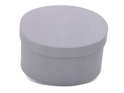 Lavender Oval Fabric Boxes
