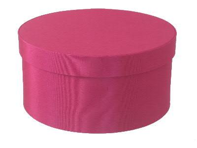 Cerise Round Fabric Boxes