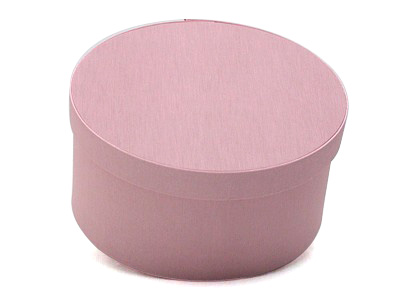 Pink Oval Fabric Boxes