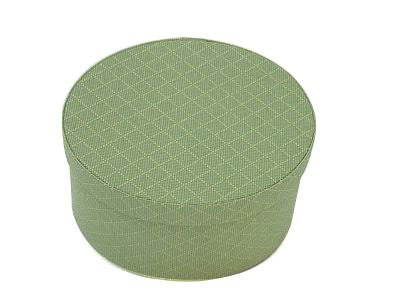 Green check Oval Fabric Boxes