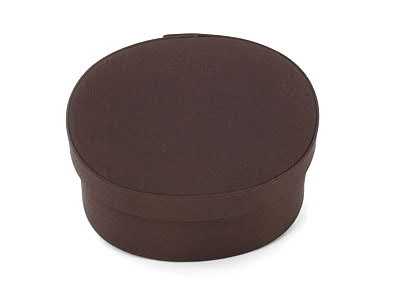 Dark Brown Oval Fabric Boxes