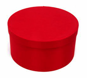 Red Round Fabric Boxes