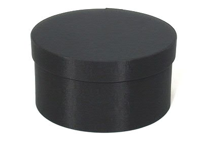 Black Round Fabric Boxes