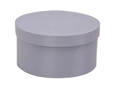 Lavender Round Fabric Boxes